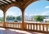 View on Plaza de España from Alcazar de Colon (Palacio de Diego — Stock Photo