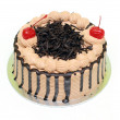 Chocolate cake with cherry — Stock Photo #8813641