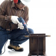 Worker focus drilling — Stock Photo #8814173