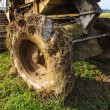 Close up back of paddy harvest machine — Stock Photo #8814359