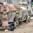 Used portable concrete mixer — Stock Photo