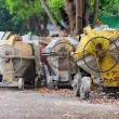 Used portable concrete mixer — Stock Photo #8815603