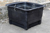 Used poly water tank — Stock Photo