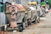 Used portable concrete mixer — Stock Photo