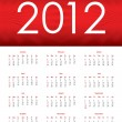 Special calendar for 2012 - Stock Vector