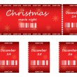 Special red tickets for Christmas — Stock Vector