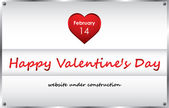 Under construction background with valentine — Stock Vector
