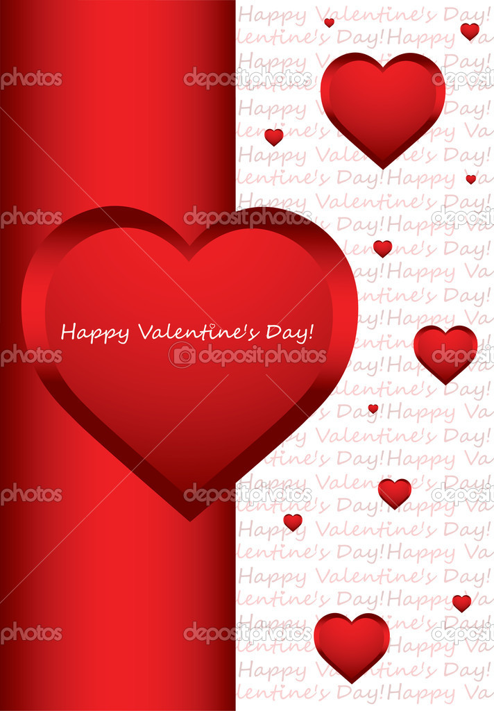 Valentine's day vector background with hearts — ベクター素材ストック #8364472