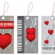 Collection of various price tags with valentine design — Imagen vectorial