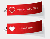 Special labels for Valentine — Vettoriale Stock