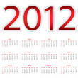 Calendar for 2012 — Stock Vector #8540886