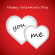 Royalty-Free Stock Imagen vectorial: Valentine\'s day background with hearts