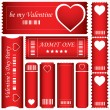 Special red Valentine's Day tickets — Imagen vectorial