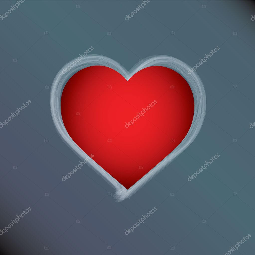 Special valentines day card with a red heart — Stock Vector #8664320