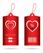 Special price tags with Valentine — Stock Vector