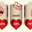 Special price tags with valentine design — Stock Vector #8914821