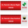 Special tickets for St. Patrick — Stock Vector