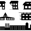 Vector set of special buildings — Stock Vector