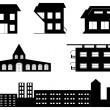 Vector set of special buildings — Stock Vector