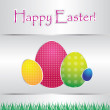 Stock Vector: Special card with easter eggs