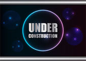 Abstract under construction background with plasma design — Stock Vector