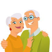 Senior lovers — Stock Vector