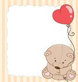 Card with a teddy bear — Stock Vector