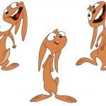 Happy bunny — Stock Vector #9157472