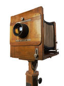 Old wooden camera — Stockfoto