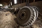 Grup Traktör Lastikleri. — Stok fotoğraf