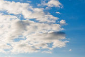 Fluffy clouds in the sky. — Стоковое фото