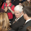 Stock Photo: Newt Gingrich at political rally.