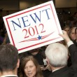 Newt Gingrich at political rally. — Stock Photo