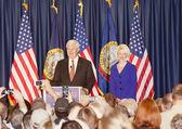 Newt gingrich na politické shromáždění. — Stock fotografie