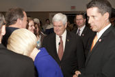 Newt Gingrich meets supporters. — Stock Photo