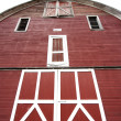 Front of a red barn. — Stock Photo