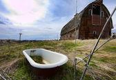 Tub in the barnyard. — Stock Photo