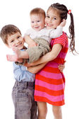 Three smiling kids together — Stock Photo