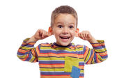Little boy with funny face — Stock Photo