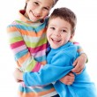 Royalty-Free Stock Photo: Two happy kids standing together