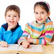 Two kids reading the book — Stock Photo #9539260
