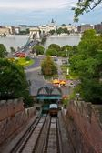 ブダペストのケーブルカー — ストック写真
