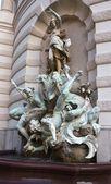 Michaelerplatz Fountain — Stock Photo