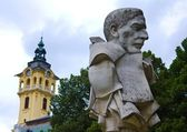 Szeged Statue and Town Hall — Stock Photo