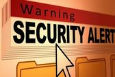 Security Alert — Stock Photo