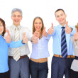 Stock Photo: Image of business giving the thumbs-up sign