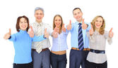 Image of business giving the thumbs-up sign — Stock Photo