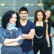 Group of college students smiling — Stock Photo #10374182