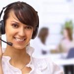 Beautiful woman operator in the office. — Stock Photo #8002093