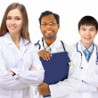 The doctor and interns — Stockfoto